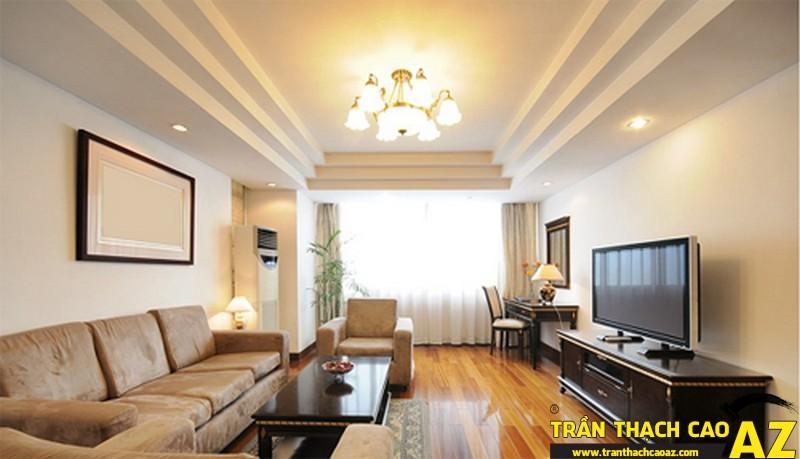Những mẫu trần thạch cao phòng khách đẹp nhất hiện nay 09