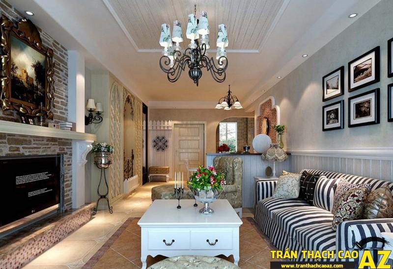 Những mẫu trần thạch cao phòng khách đẹp nhất hiện nay10