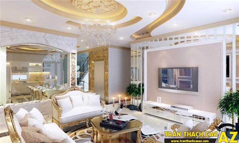 Những mẫu trần thạch cao phòng khách đẹp nhất hiện nay12