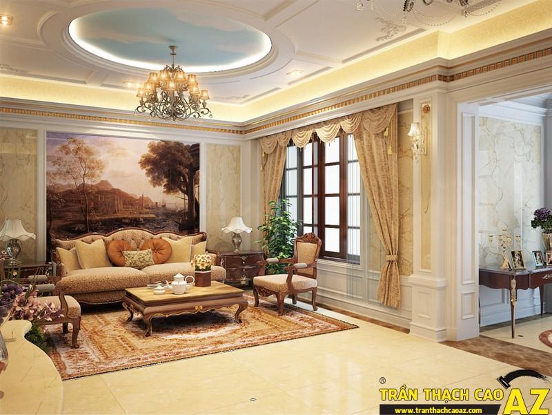 Những mẫu trần thạch cao phòng khách đẹp nhất hiện nay 14