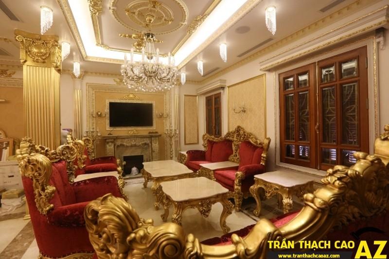 Những mẫu trần thạch cao phòng khách đẹp nhất hiện nay 15