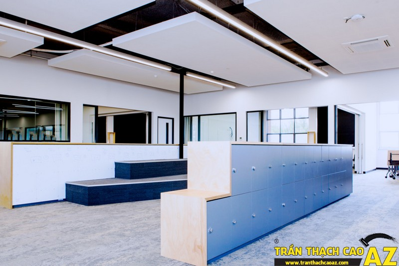 """Những ưu điểm """"trên cả tuyệt vời"""" của thiết kế trần thạch cao văn phòng 02"""
