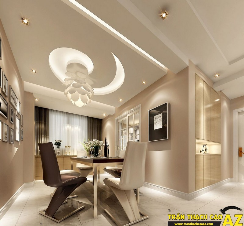 Vẻ đẹp thu hút mọi ảnh nhìn của không gian sống với thiết kế trần thạch cao 01
