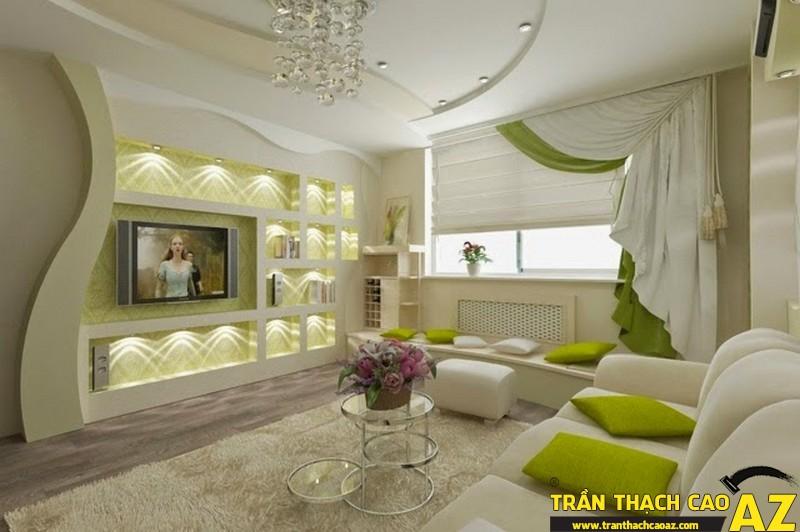 Trần thạch cao phòng khách đa dạng về mẫu mã và cách thiết kế