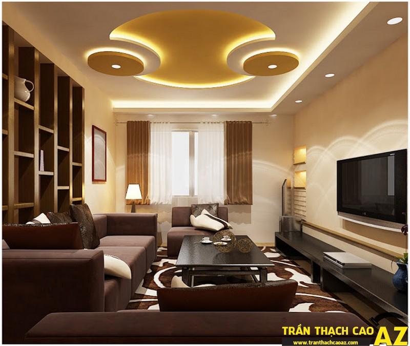 Mẫu trần thạch cao phòng khách ấn tượng