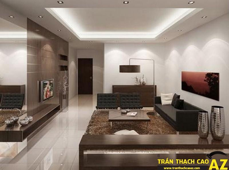 Sử dụng ánh sáng hài hào của hệ thống đèn trang trí - một cách làm nổi bật vẻ đẹp của trần thạch cao chung cư