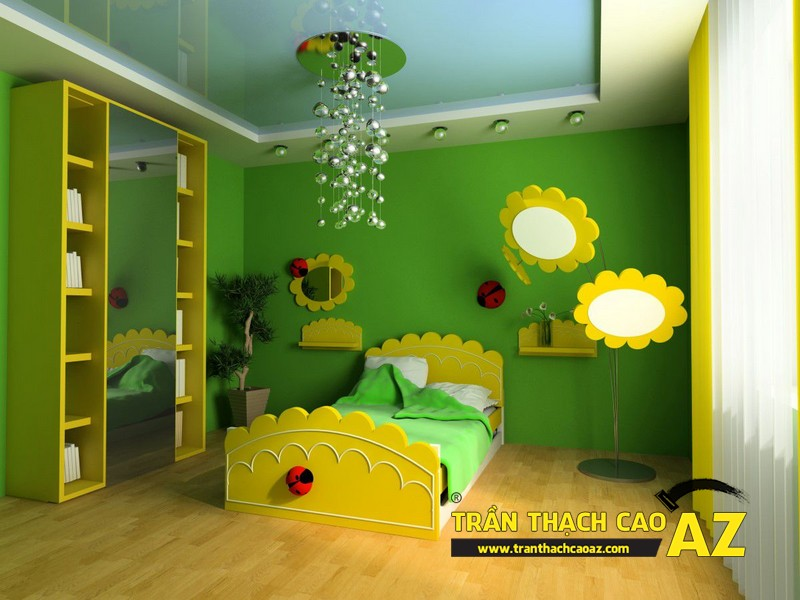 Bộ sưu tập những thiết kế trần thạch cao phòng ngủ trẻ em hot nhất 2016