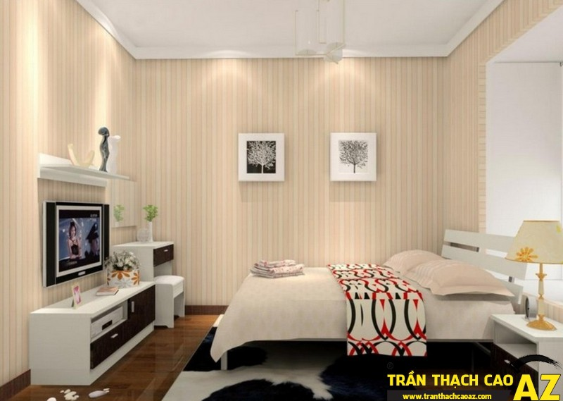 Nên chọn các mẫu trần thạch cao phòng ngủ đơn giản, nhẹ nhàng