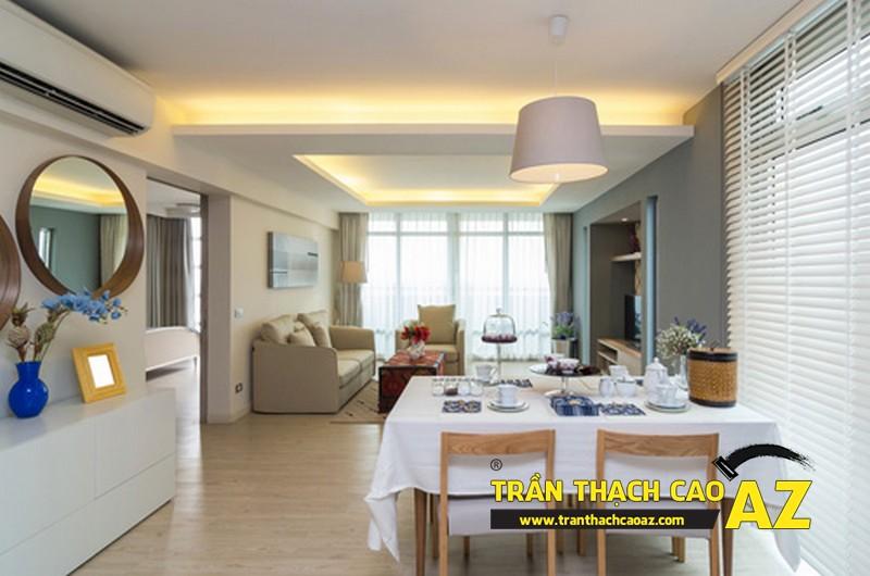 Không gian sống đẹp xuất sắcvới thiết kế trần thạch cao 03