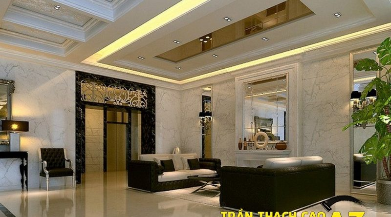 Kinh nghiệm làm trần thạch cao phòng khách giúp hút vượng khí, tài lộc
