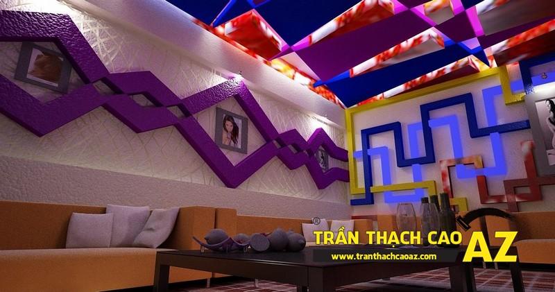 AZ - đơn vị thi công trần thạch cao phòng karaoke uy tín, giá rẻ tại Hà Nội 02