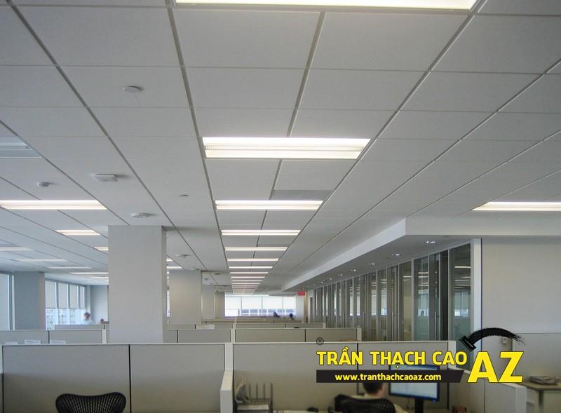 Tại sao nên sử dụng trần thả trong thi công trần thạch cao văn phòng?