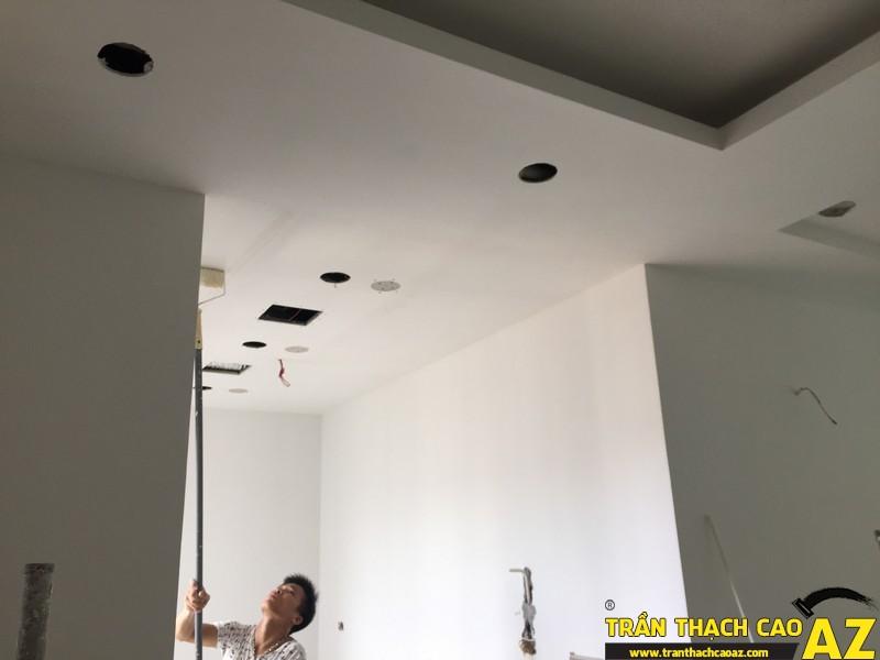 Thi công hoàn thiện trần thạch cao nhà anh Lâm P.16A01, Toà Golden West 05