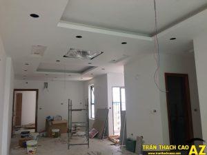 Thi công hoàn thiện trần thạch cao nhà anh Lâm P.16A01, Toà Goldden West