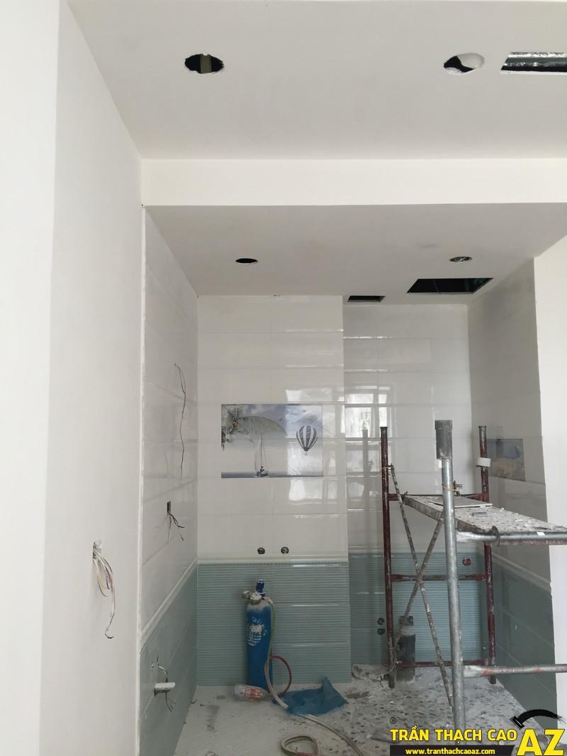 Thi công hoàn thiện trần thạch cao nhà anh Lâm P.16A01, Toà Goldden West 09