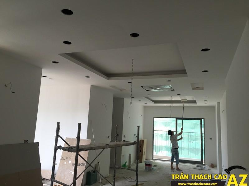 Thi công hoàn thiện trần thạch cao nhà anh Lâm P.16A01, Toà Golden West 02