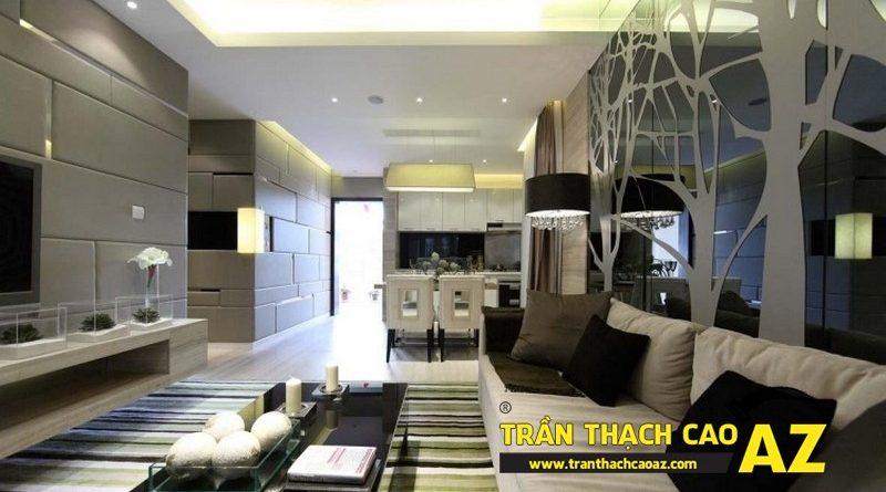 Thiết kế trần thạch cao phòng khách hợp phong thủy