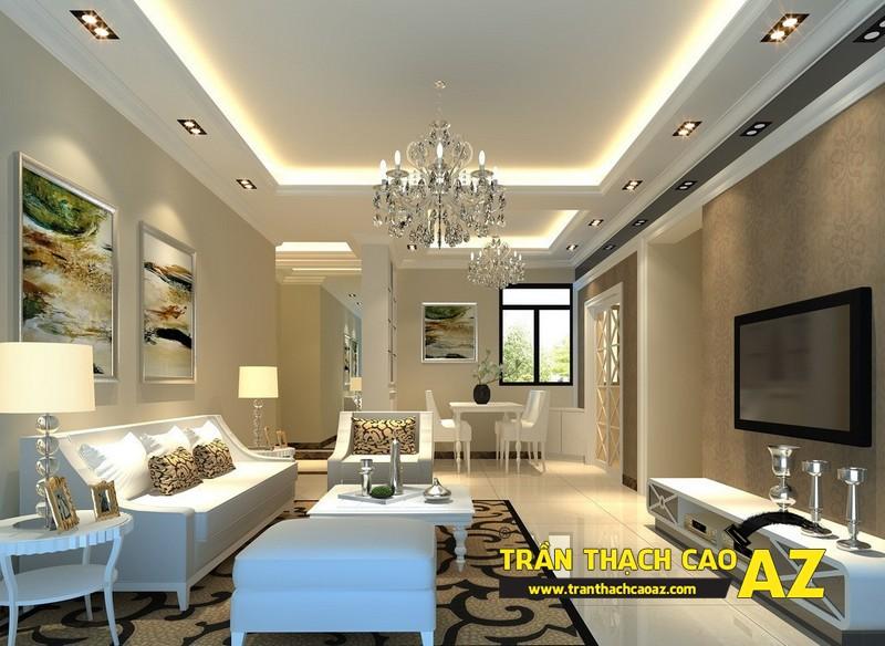 Thiết kế trần thạch cao phòng khách hợp phong thủy 03