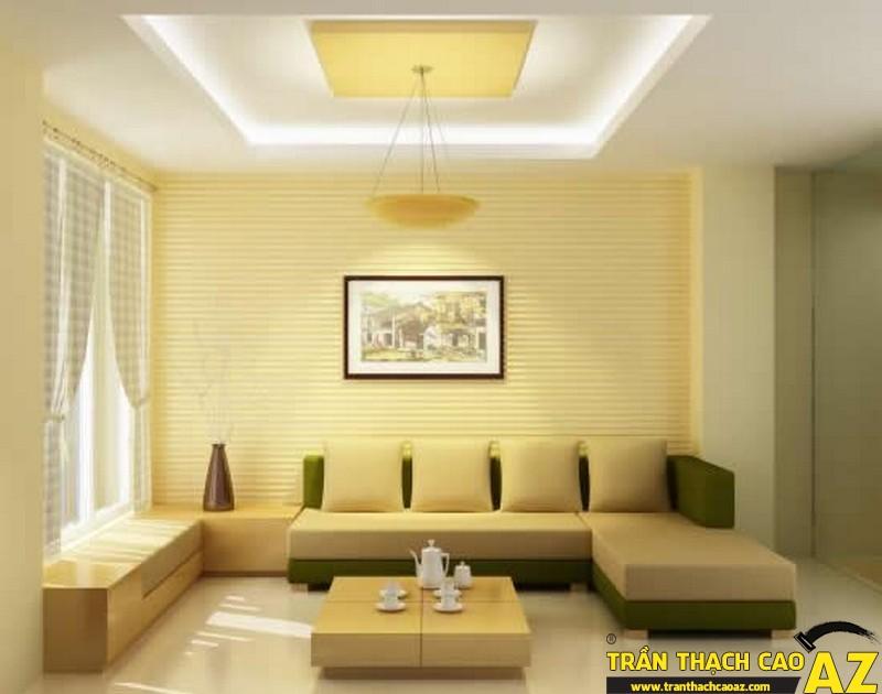 Cách thiết kế trần thạch cao phòng khách trang nhã, hiện đại