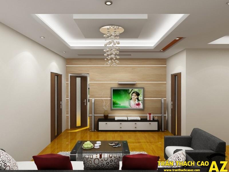 Sự sang trọng khác biệt của không gian nội thất được tạo ra bởi trần thạch cao