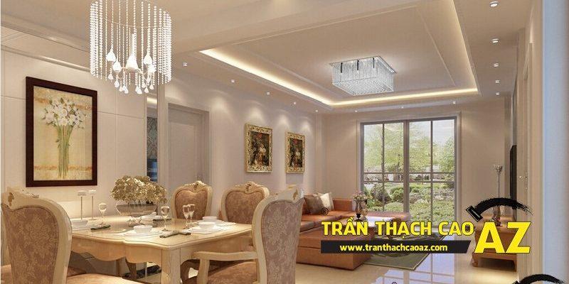 Lựa chọn các thiết kế trần thạch cao phù hợp với diện tích, tổng thể không gian nhà