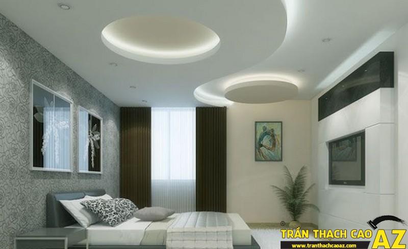 Tạo phong cách, cá tính riêng với trần thạch cao phòng ngủ