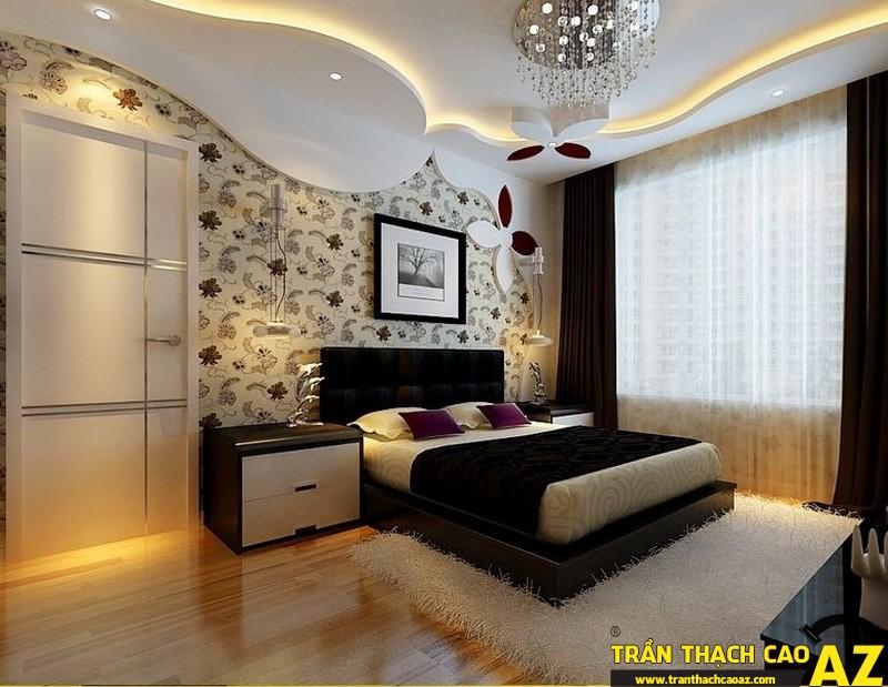 Với khả năng cách âm tuyệt hảo, trần thạch cao phòng ngủ cho bạn một không gian yên tĩnh