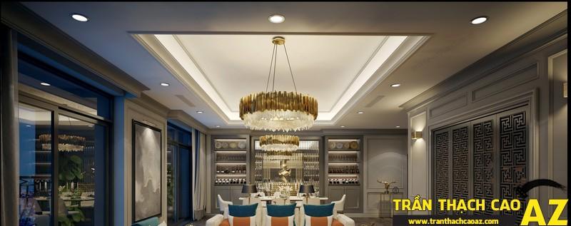 Kết hợp 2 phong cách cổ điển và hiện đại trong thiết kế trần thạch cao