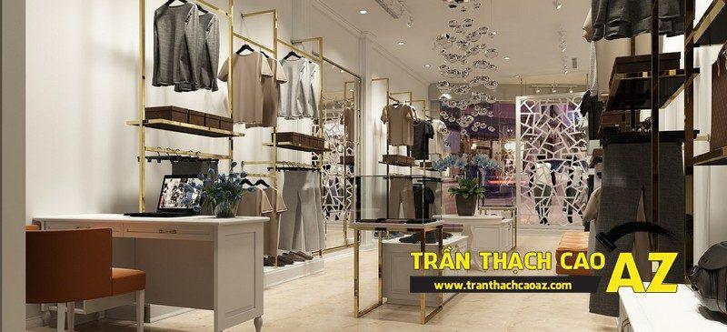 Cách chọn mẫu trần thạch cao shop thời trang cực chuẩn, cực bắt mắt