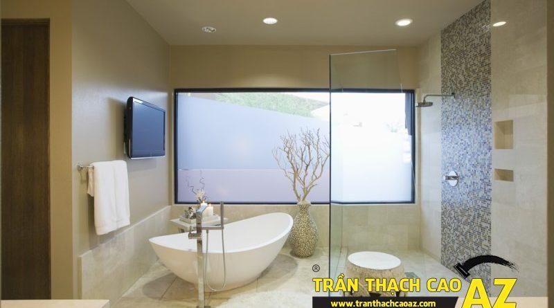 Mách bạn cách đảm bảo chất lượng tuyệt đối của trần thạch cao phòng tắm