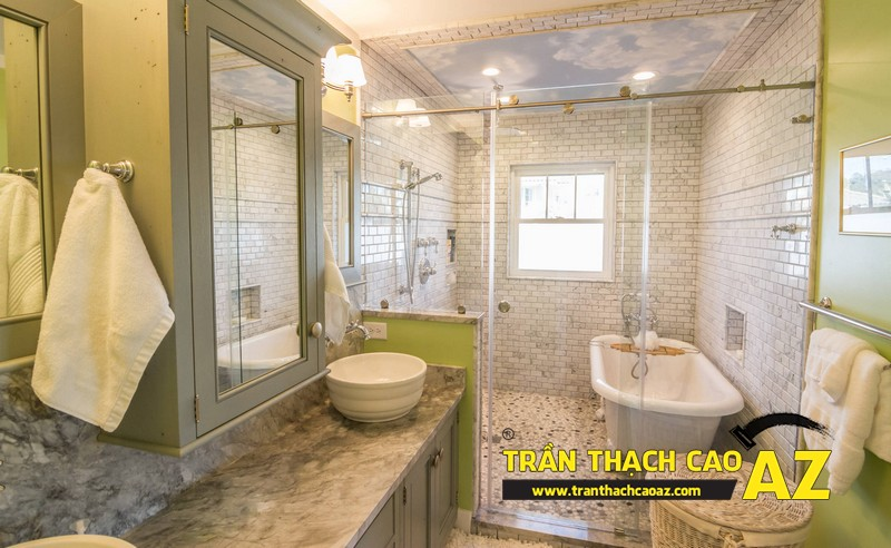 Mách bạn cách đảm bảo tuyệt đối chất lượng trần thạch cao phòng tắm 02