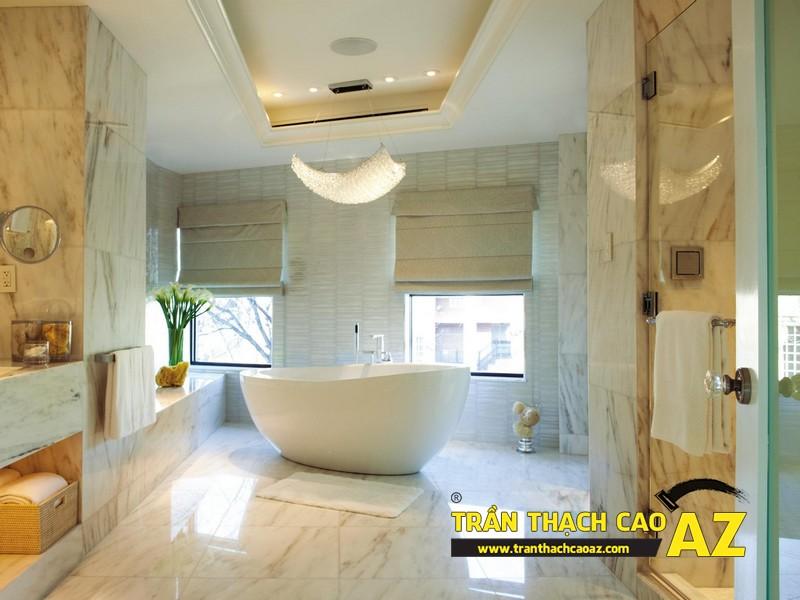 Mách bạn cách đảm bảo tuyệt đối chất lượng trần thạch cao phòng tắm 01