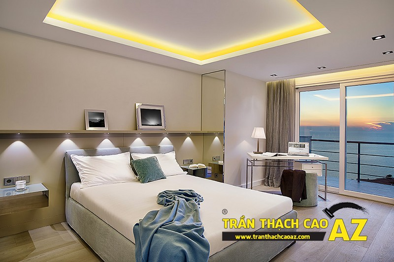 Cách thiết kế trần thạch cao phòng ngủ vợ chồng thêm gắn kết 02