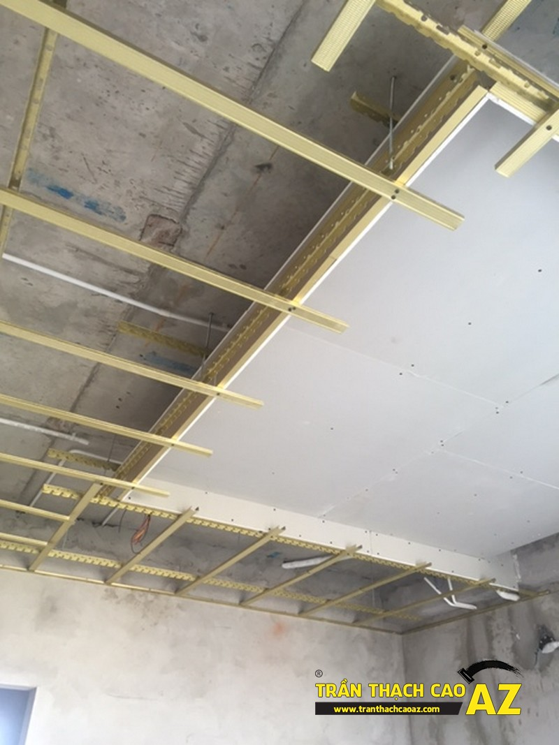Đi khung xương trần thạch cao giật cấp nhà anh Bình P2101B, Tòa Golden West 01