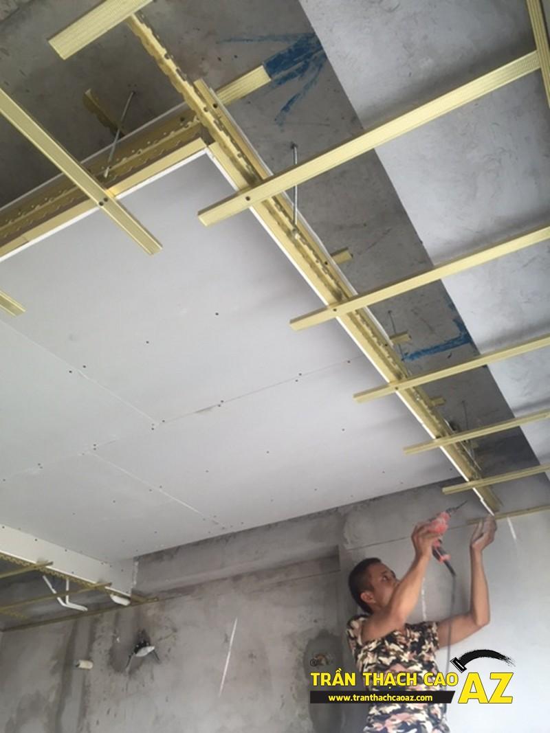 Đi khung xương trần thạch cao giật cấp nhà anh Bình P2101B, Tòa Golden West 02