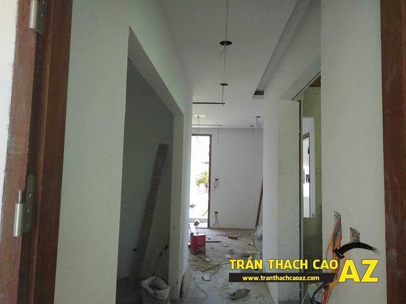 Hoàn thiện trần thạch cao nhà chị Hoài Cổ Dương, Đông Anh, Hà Nội 04