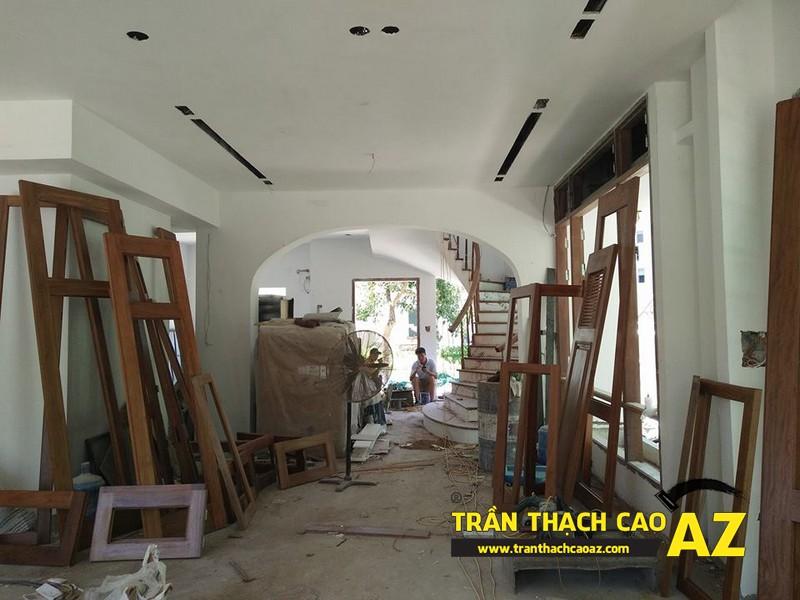 Hoàn thiện trần thạch cao nhà chị Hoài Cổ Dương, Đông Anh, Hà Nội 02