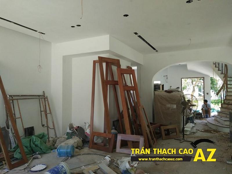 Hoàn thiện trần thạch cao nhà chị Hoài Cổ Dương, Đông Anh, Hà Nội 01