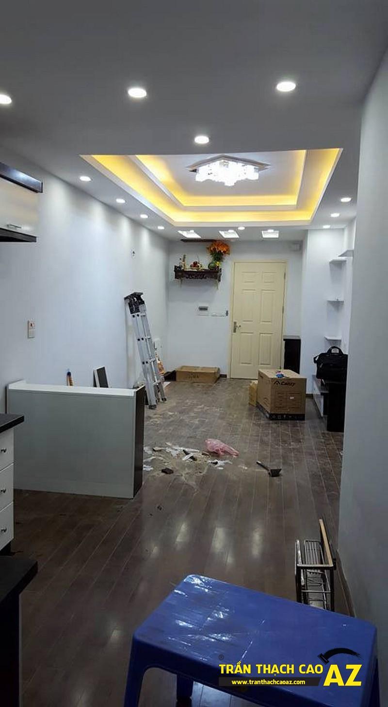 Hoàn thiện trần thạch cao phòng khách nhà anh Nam P2102, Tòa VP2, Linh Đàm01