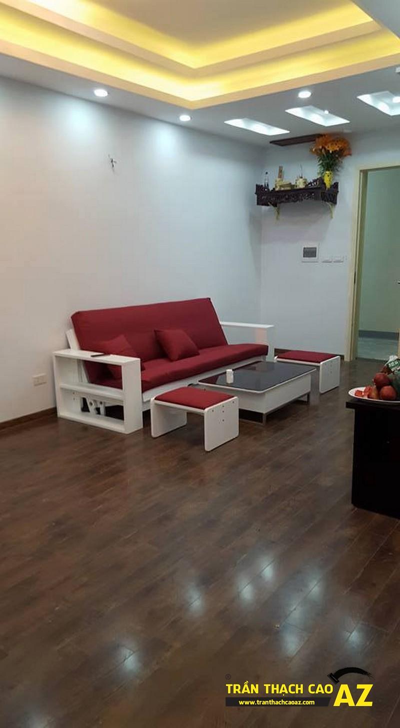 Hoàn thiện trần thạch cao phòng khách nhà anh Nam P2102, Tòa VP2, Linh Đàm02