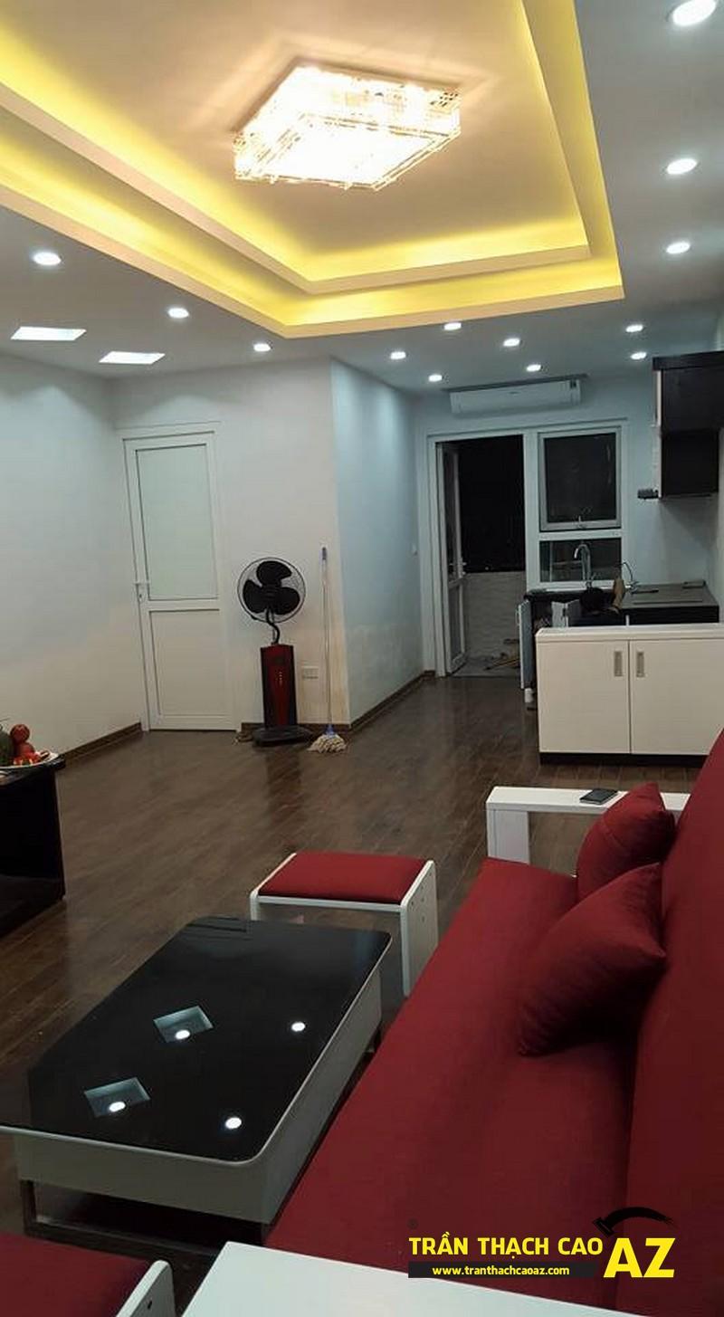 Hoàn thiện trần thạch cao phòng khách nhà anh Nam P2102, Tòa VP2, Linh Đàm03