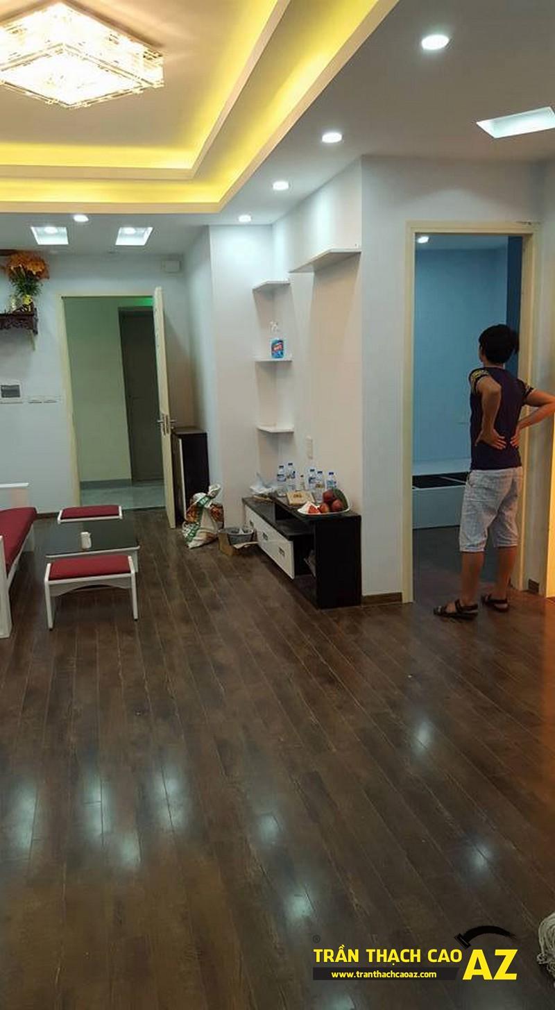 Hoàn thiện trần thạch cao phòng khách nhà anh Nam P2102, Tòa VP2, Linh Đàm04