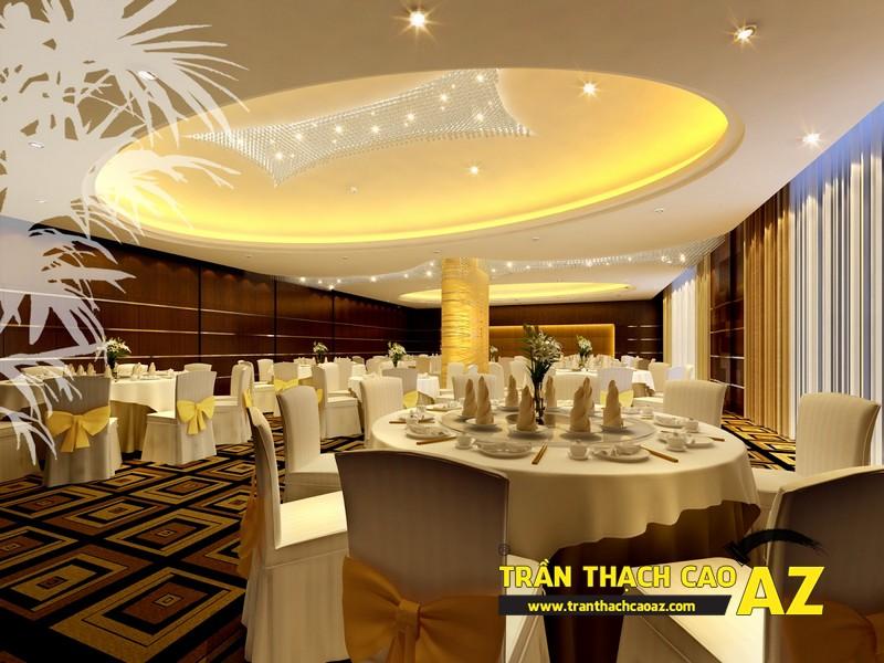 Hút khách cho nhà hàng từ việc trang trí bằng trần thạch cao