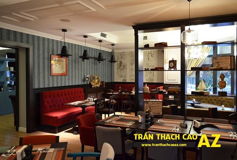 Kiến tạo không gian nhà hàng sang trọng nhờ sử dụng trần thạch cao 01