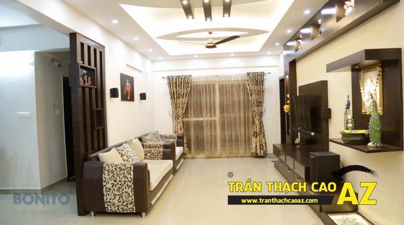 Làm trần thạch cao phòng khách đẹp giá hấp dẫn tại Hà Nội