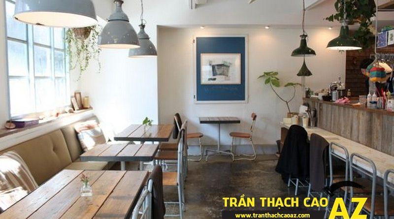 """Nhận làm trần thạch cao quán cafe giá rẻ, đảm bảo """"chất lạ"""" tại Hà Nội"""