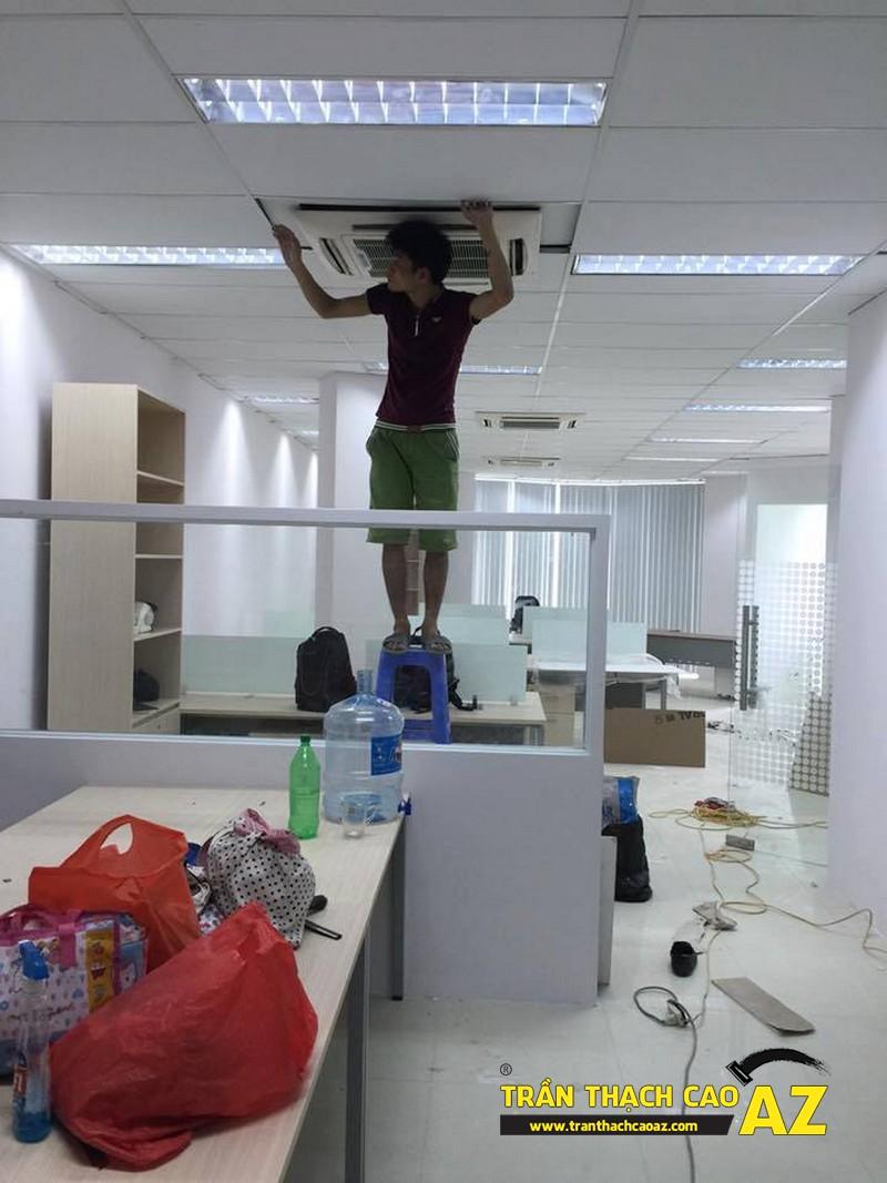 Làm trần thạch cao văn phòng tầng 3, tòa HITC, Xuân Thủy, Cầu Giấy 01
