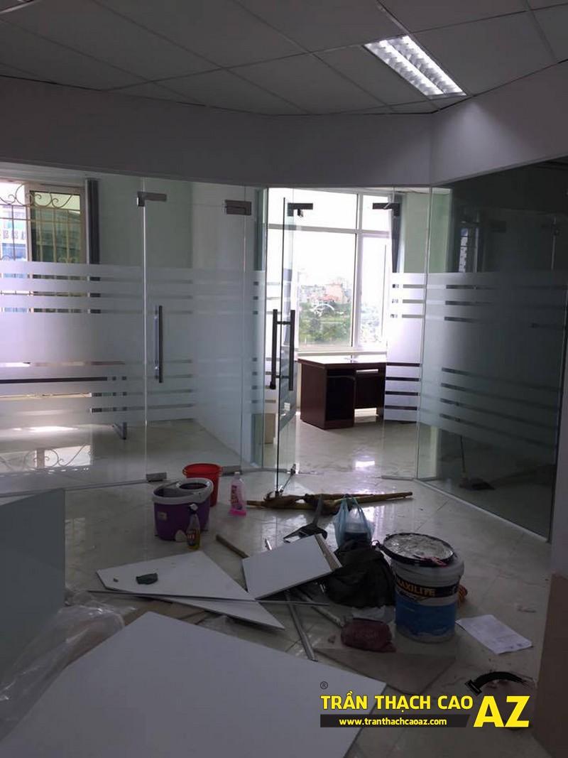 Làm trần thạch cao văn phòng tầng 3, tòa HITC, Xuân Thủy, Cầu Giấy 02