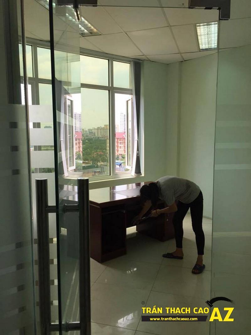 Làm trần thạch cao văn phòng tầng 3, tòa HITC, Xuân Thủy, Cầu Giấy 03