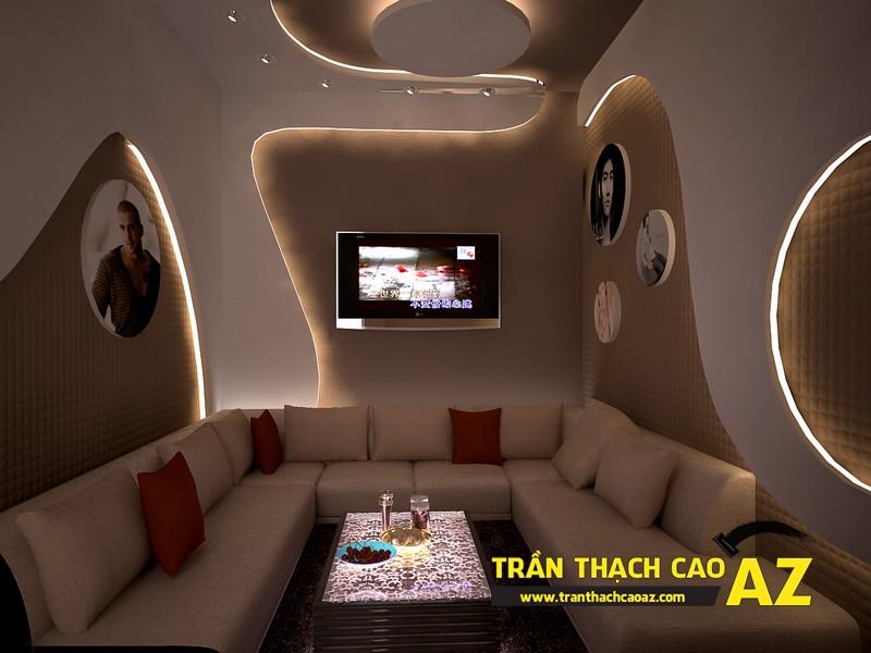 Lợi ích của trần thạch cao trong thi công và thiết kế cho phòng karaoke